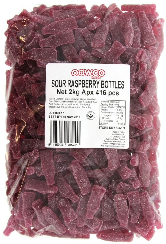 Nowco: Sour Raspberry Bottles (2kg)