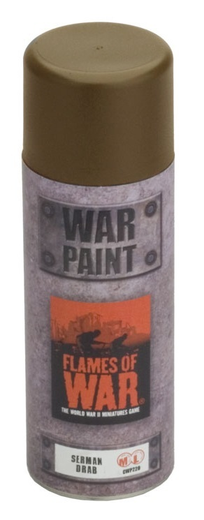 Flames of War: Paint Spray Can - Sherman Drab (400ml)