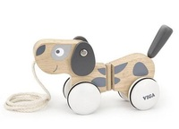 VIGA Wooden Toys: Scandinavian Puppy - Pull-a-long Toy