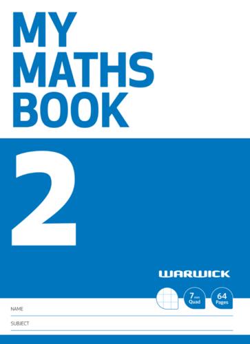 Warwick: My Maths Book #2 - A4+ Exercise Book