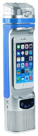 Next Bottle – Water Bottle With Charger And Speaker (Blue & Silver)