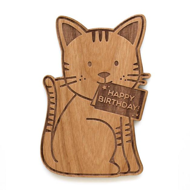 Buy Cardtorial Cat Shape Birthday Greeting Card At Mighty Ape NZ