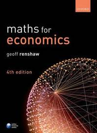 Maths for Economics by Geoff Renshaw