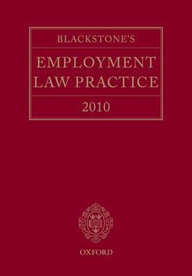 Blackstone's Employment Law Practice: 2010 by Damian Brown QC image