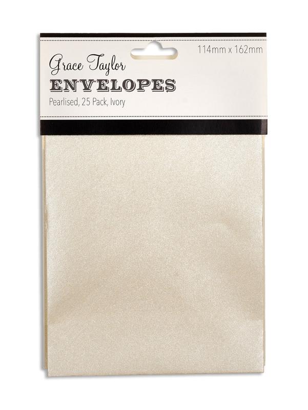Grace Taylor Envelopes - Pearl Ivory (25 Pack)