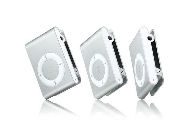 Apple - iPod shuffle 1GB - 3rd Gen - Silver