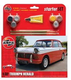 Airfix Triumph Herald Starter Set 1/32 Model Kit