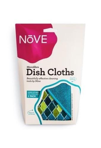 Nove Patterned Kitchen Cloth - Blue (2 Pack)