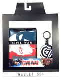 Marvel: Captain America Wallet/Keychain Gift Set