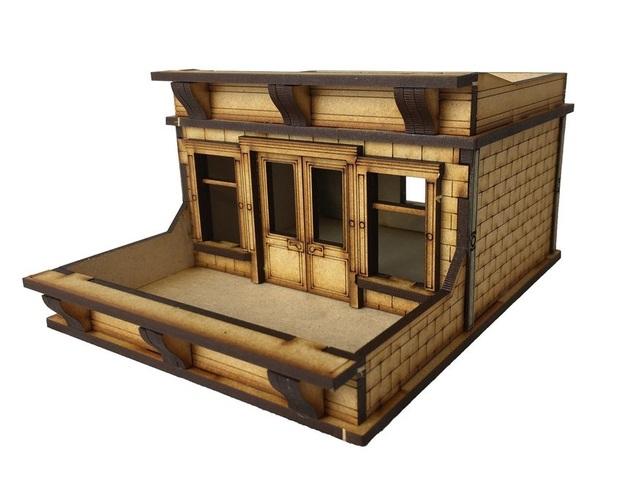 TTCombat: Tabletop Scenics - Brownstone Roof Terrace