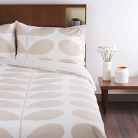 Orla Kiely Queen Duvet Cover - Flannel Giant Stem (Clay)