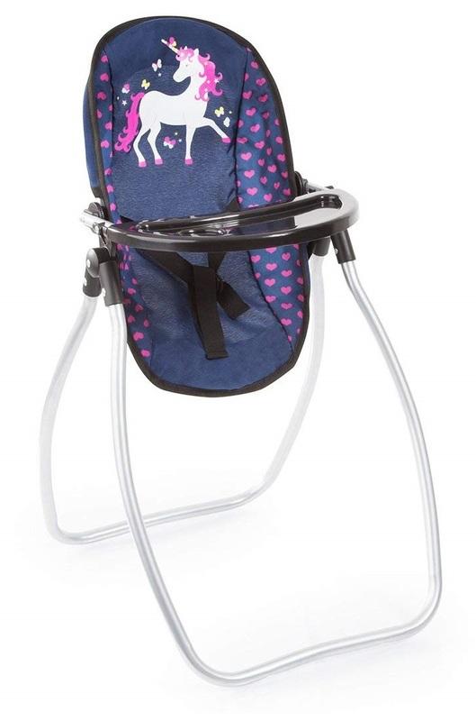 Bayer: Vario Doll Highchair - Navy Unicorn