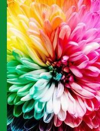 Rainbow Flower Blank Journal Notebook by Ahri's Notebooks & Journals