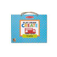 Melissa & Doug: Play, Draw, Create - Trucks