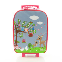 BobbleArt Wheelie Travel Bag - Woodland
