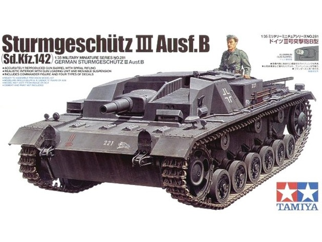 Tamiya 1/35 German Sturmgeschutz III AusfB - Model Kit