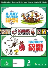 A Boy Named Charlie Brown / Snoopy Come Home on DVD