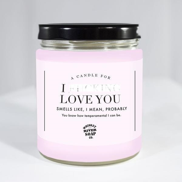 Whiskey River Co: I F**king Love You Candle