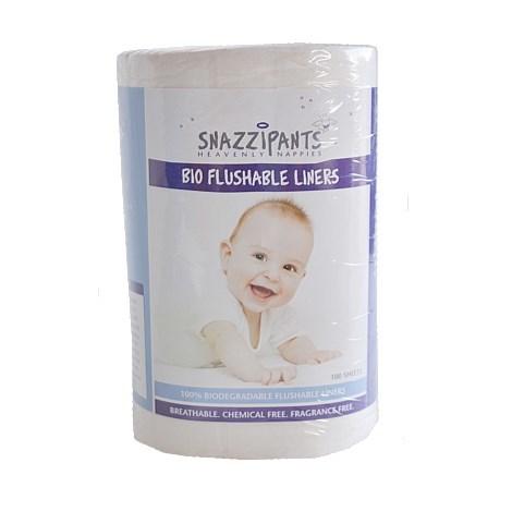 Snazzipants Bio Flushable Liners (100 Sheets)