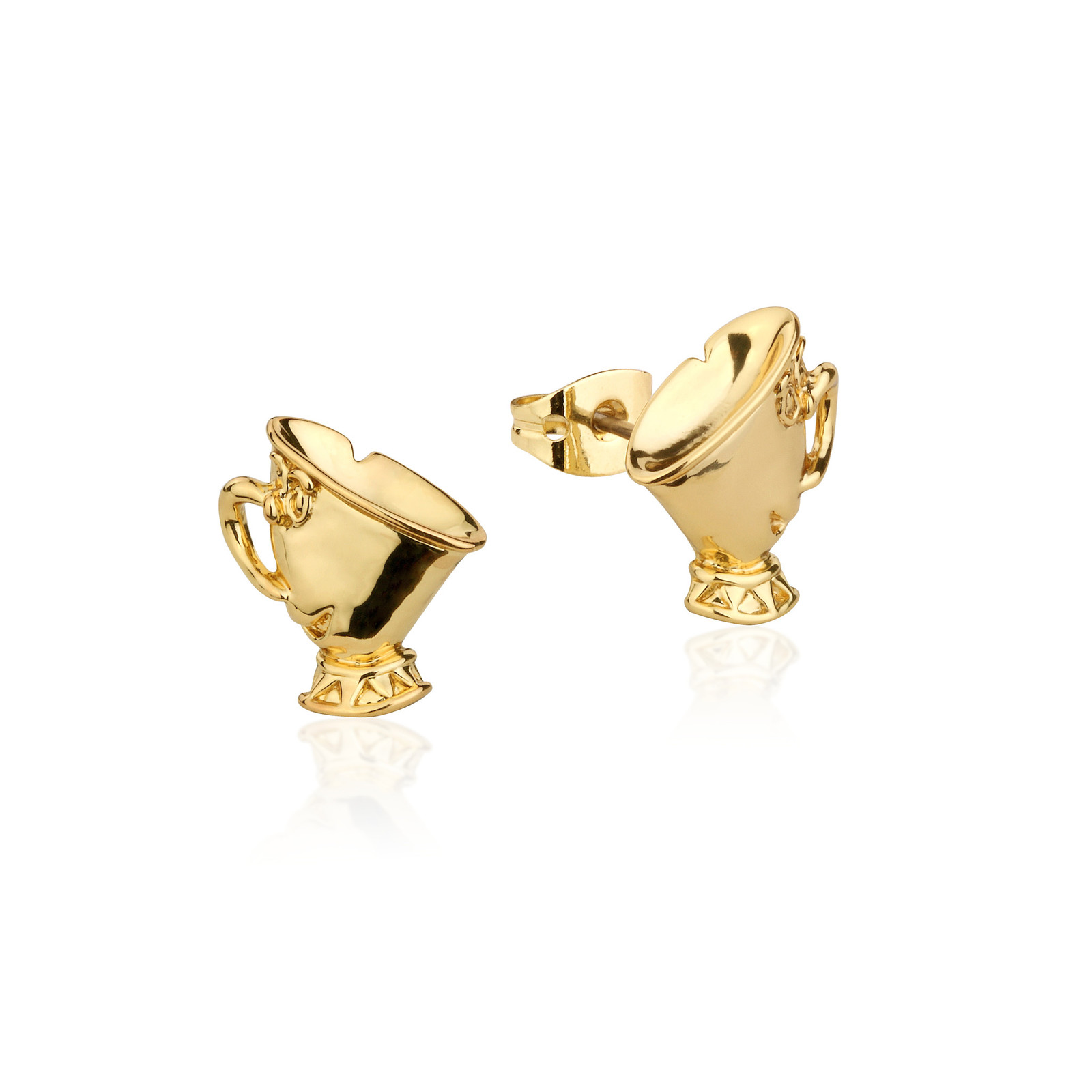 Couture Kingdom: Disney Beauty and the Beast Chip Studs - Yellow Gold image