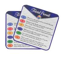 Purple Donkey Trivial Pursuit Coasters