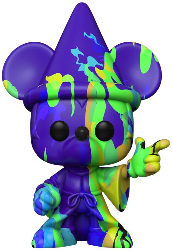 Fantasia: Sorcerer Mickey (Blue/Green) Pop! Vinyl Figure + Protector