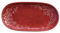 Maxwell & Williams Euphemia Henderson Oblong Platter 33x17cm Burgundy Gift Boxed
