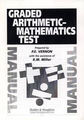 Graded Arithmetic-Mathematics Test Manual by Philip E. Vernon image
