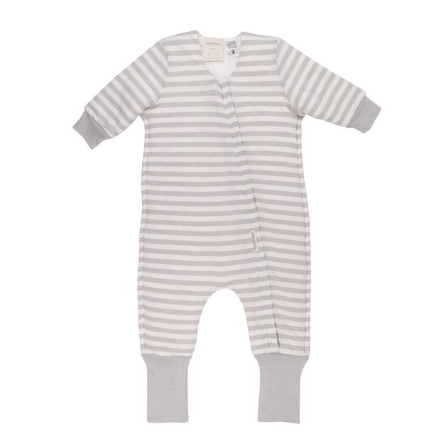 Woolbabe: Duvet Sleeping Suit with Sleeves Pebble - 4 Years