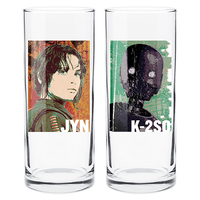 Star Wars Jyn/K-2so Set Of 2 Hi Ball Glasses