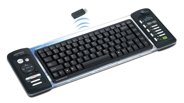 Genius Wireless Luxemate Media Centre Keyboard & Mouse (Black/Transparent)