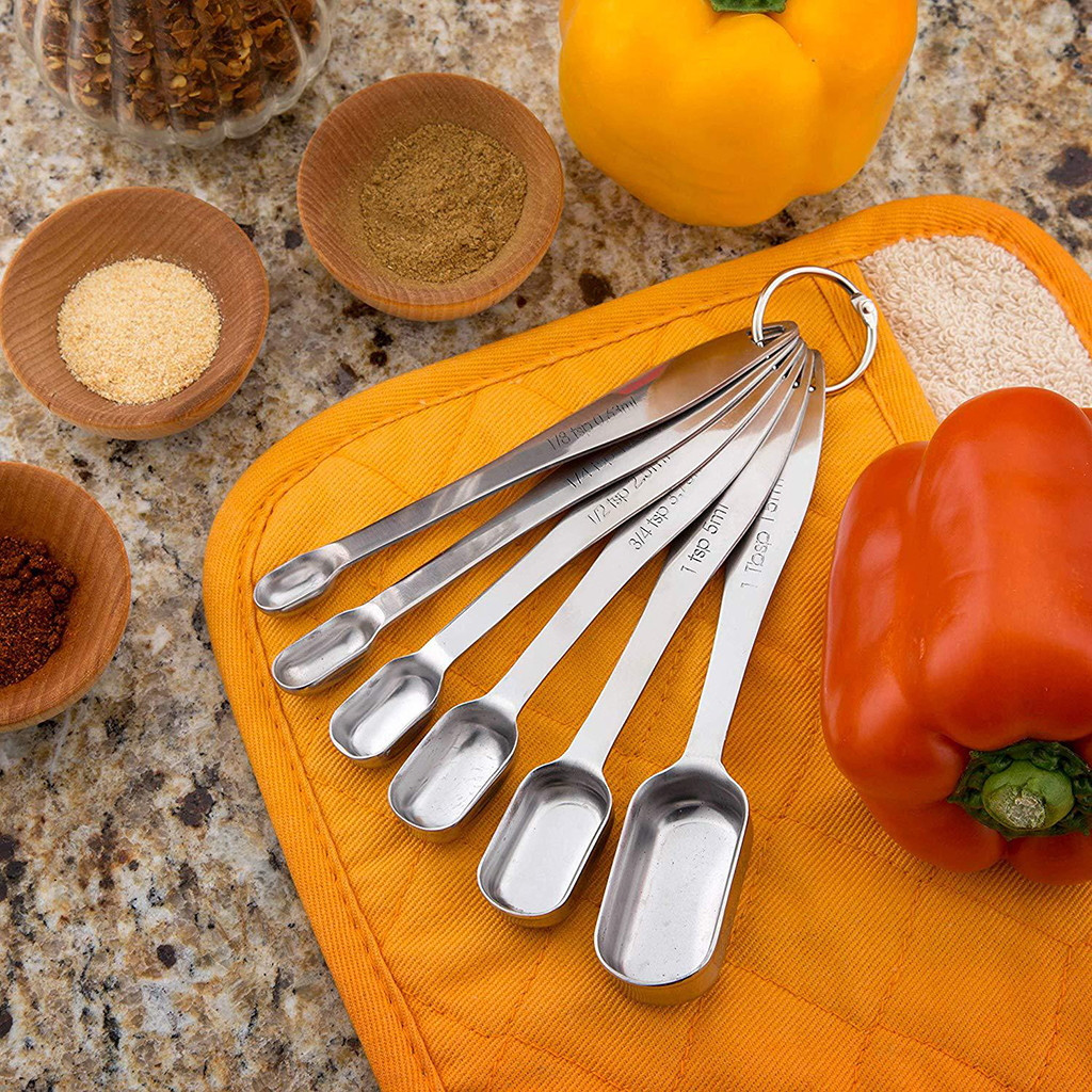 Ape Basics: Stainless Steel Measuring Cups & Spoons (Set of 13) image