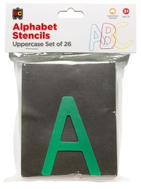 EC Colours - Uppercase Alphabet Stencil Set - Pack of 26