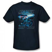 Star Trek TNG 25th Anniversary Enterprise T-Shirt (Large)