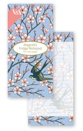 Museum & Galleries: V&A Magnetic Fridge Notepad - Almond Blossom & Swallow