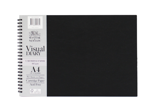 Winsor & Newton: A4 Landscape Visual Diary 110gsm FSC Mix Credit