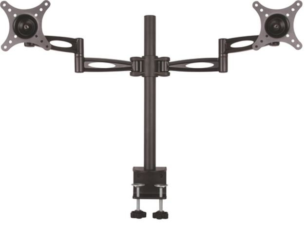 "Digitus 15-27"" Dual Arm Monitor Stand with Clamp Base"