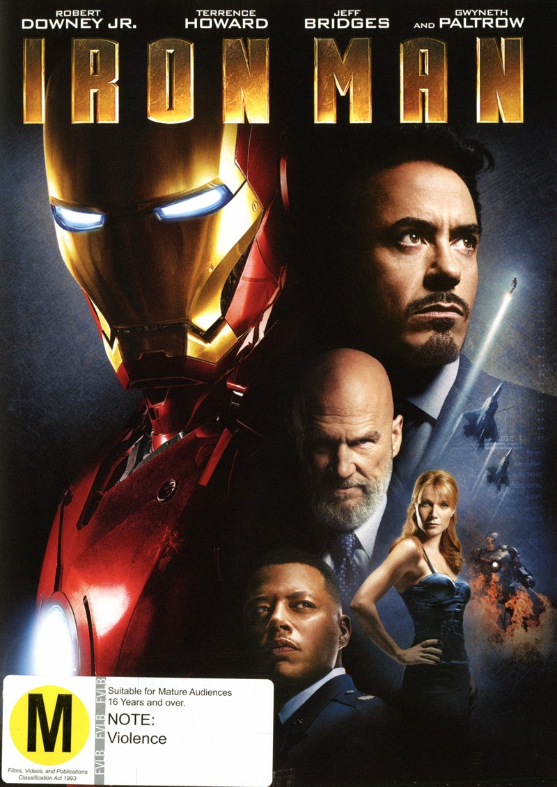Iron Man on DVD image