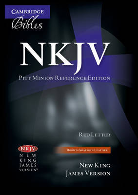NKJV Pitt Minion Reference Edition NK446XR Brown Goatskin Leather image