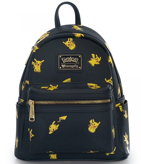 Loungefly Pokemon Pikachu Print Mini Backpack image