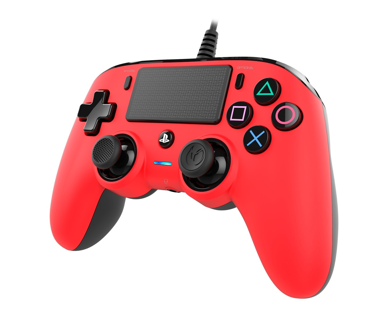 Nacon PS4 Wired Gaming Controller - Red for PS4 image