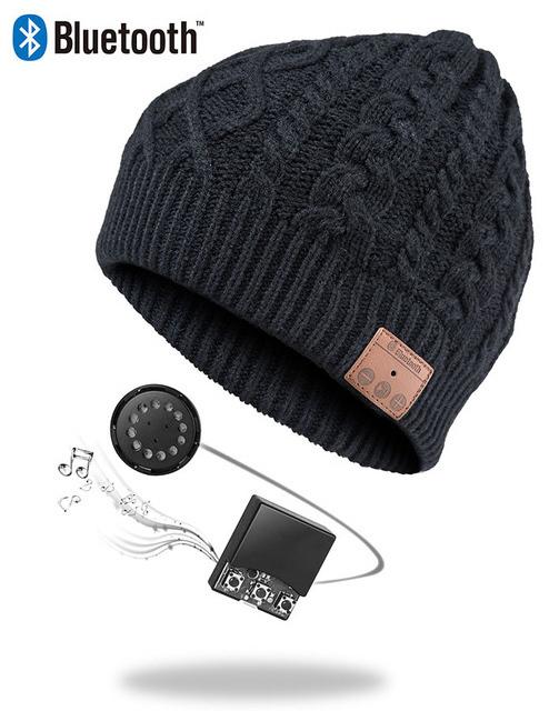 Ape Basics: Wireless Bluetooth Music Beanie Hat - Black