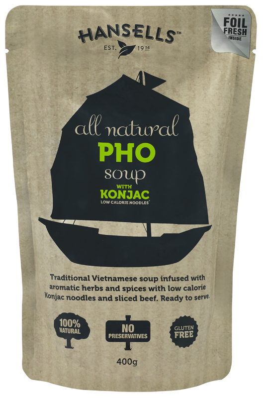 Hansells: All Natural Soup - Pho with Konjac Noodles (6 x 400g)