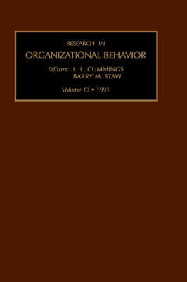 Research in Organizational Behaviour: v. 13 image