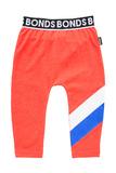 Bonds Sport Stretchy Leggings - Stripe Slay Red (12-18 Months)