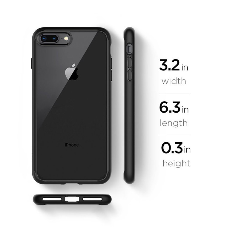 super popular d8083 a6e81 Spigen iPhone 8 Plus /7 Plus Ultra Hybrid 2 Case Black
