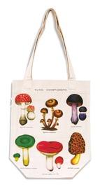 Cavallini & Co: Mushrooms - Vintage Tote Bag