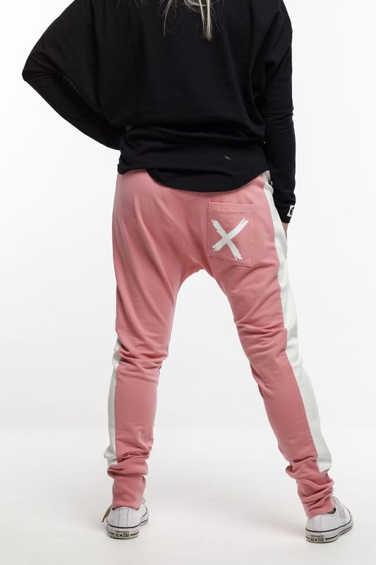 Home-Lee: Relaxer Pants - Rose Pink With X - 14