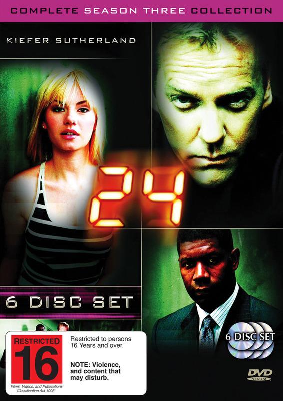 24 - Season 3 (6 Disc Set) on DVD