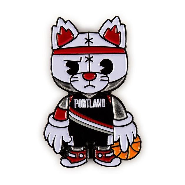 NBA: Portland Trailblazers - Blaze Mascot Enamel Pin